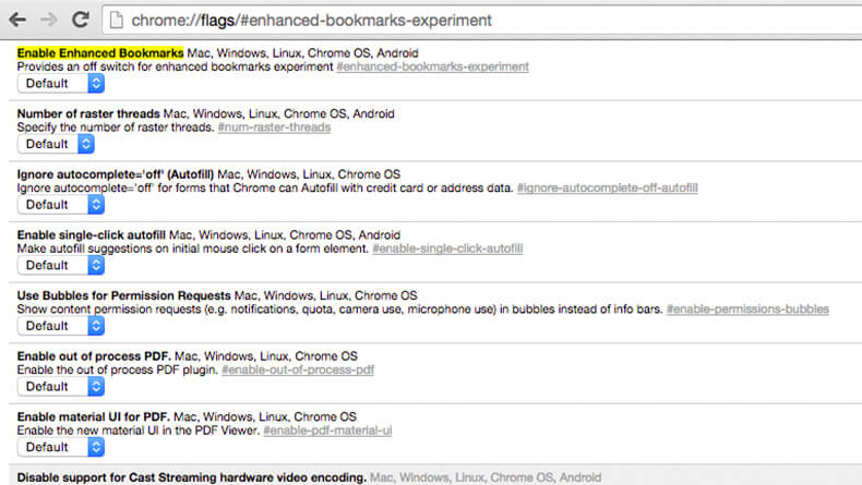 chrome-flags-enhanced-bookmarks-experiment